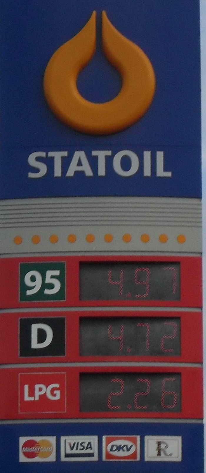 Das Benzin im Kanister der Preis